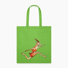 Slender Gazelle Performing a Long Jump Bags & backpacks