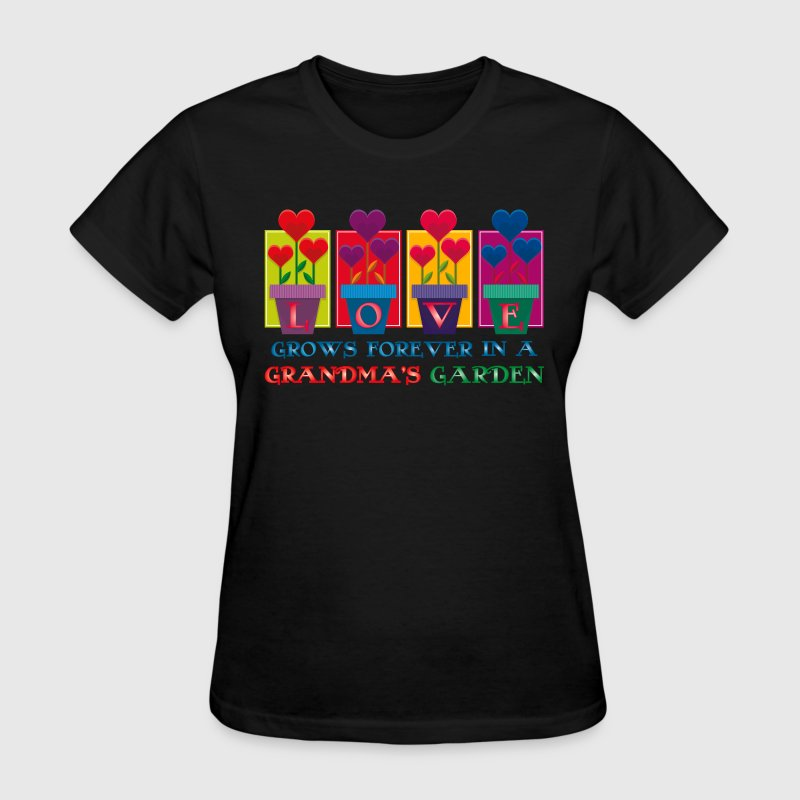 Grandma 39 s garden t shirt spreadshirt for Garden t shirt designs
