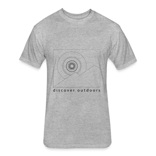 DO Sunrise T (Men's Grey) - Fitted Cotton/Poly T-Shirt by Next Level