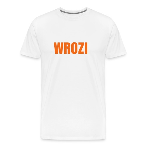 WROZI White and orange T-shirt men - Men's Premium T-Shirt