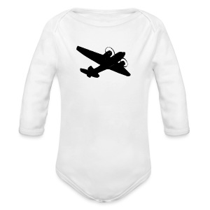 Baby Long-Sleeve Plane Romper - Long Sleeve Baby Bodysuit