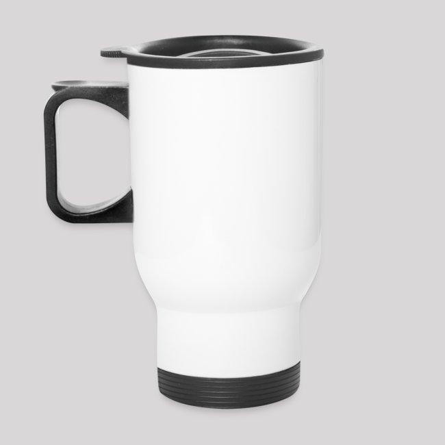 White Travel Mug C.J. PINARD LOGO