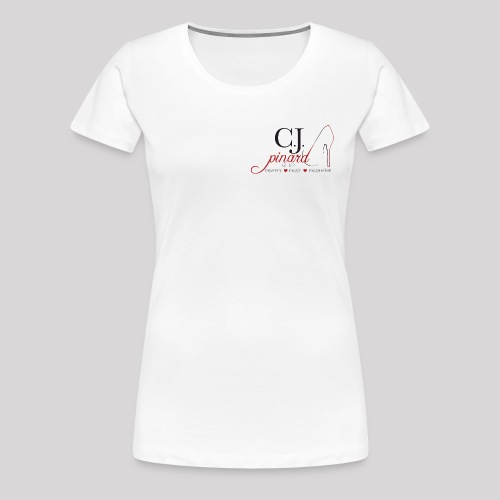 Women's Premium T-Shirt C.J. PINARD LOGO White - Women's Premium T-Shirt
