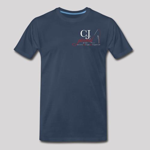Men's Premium T-Shirt C.J. PINARD LOGO Navy - Men's Premium T-Shirt