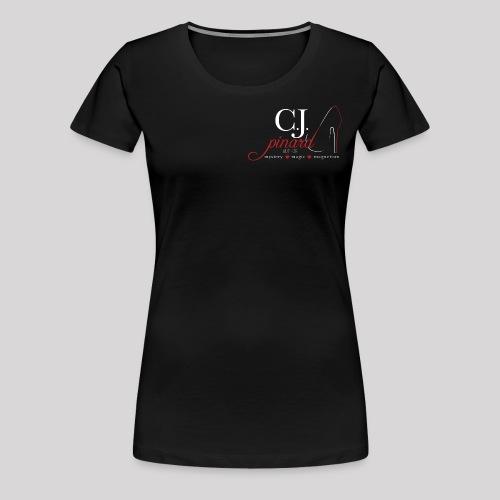 Women's Premium T-Shirt C.J.PINARD LOGO Black - Women's Premium T-Shirt