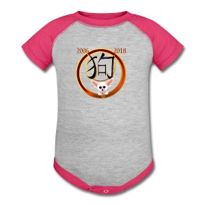 Year Of The Dog-My Chiuhauah - Baby Contrast One Piece