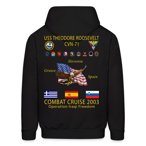 USS THEODORE ROOSEVELT 2003 COMBAT CRUISE HOODIE - Men's Hoodie