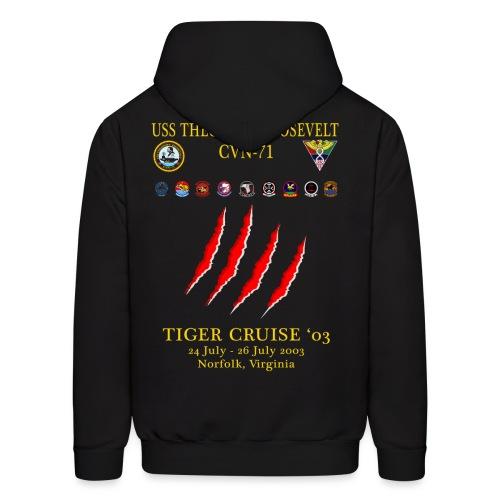 USS THEODORE ROOSEVELT 2003 TIGER CRUISE HOODIE - CLAW - Men's Hoodie