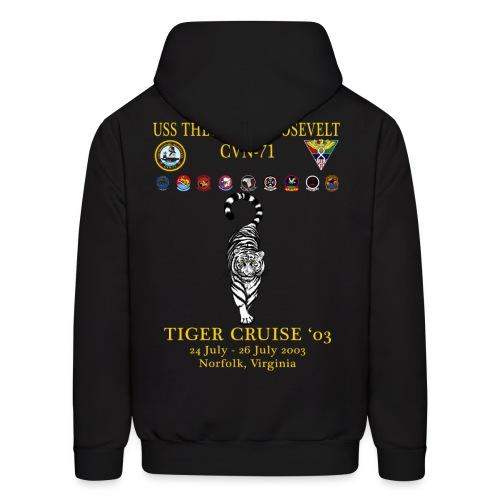 USS THEODORE ROOSEVELT 2003 TIGER CRUISE HOODIE - TIGER - Men's Hoodie