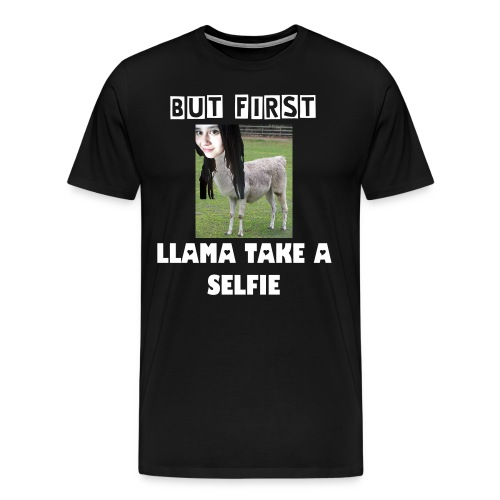 Llama Take a Selfie - T-Shirt - Men's Premium T-Shirt
