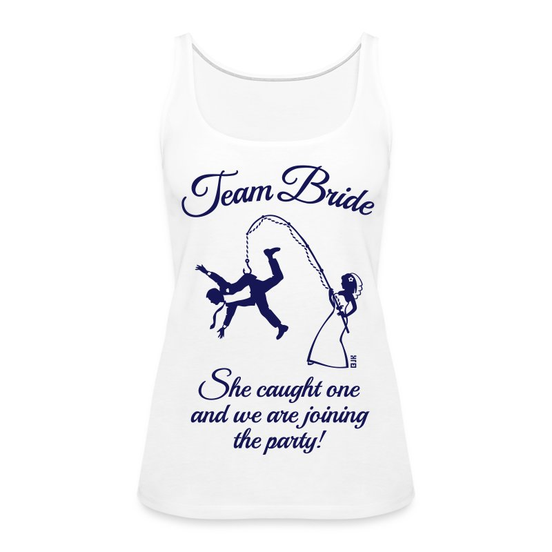 Team bride husband fishing hen party 1c tank top for Fishing tank top