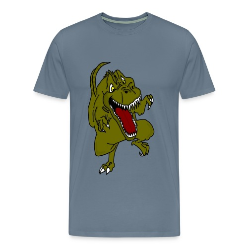 Rampaging Dinosaur - Men's Premium T-Shirt