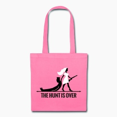 the hunt is over bachelorette bachelor party bride Bags & backpacks