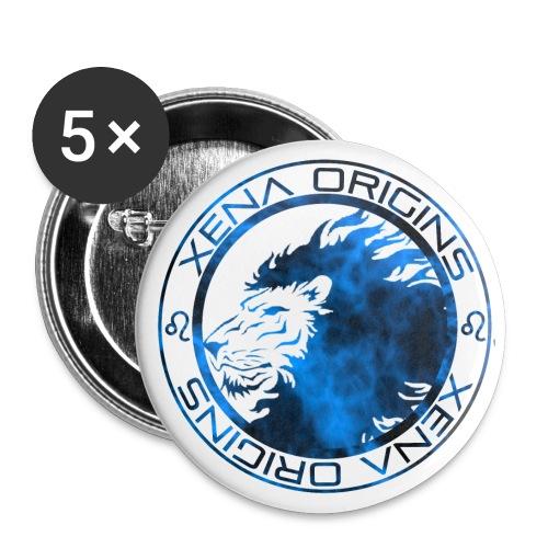 Xena Origins Button  Blue Mist - Large Buttons