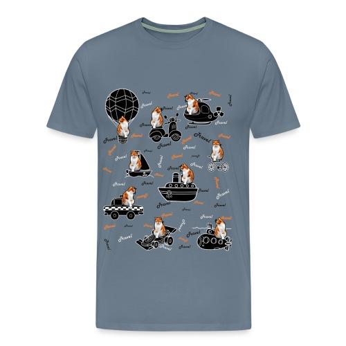 Travel cat Men's Premium T-Shirt. - Men's Premium T-Shirt