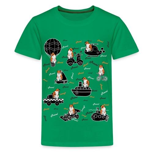 Travel cat Kids' Premium T-Shirt. - Kids' Premium T-Shirt