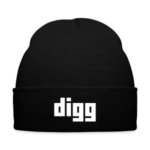 The Digg Beanie - Knit Cap with Cuff Print