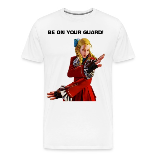 Be On Your Guard - White - Men's Premium T-Shirt