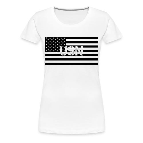 USN Logo Women's T 2 - Women's Premium T-Shirt