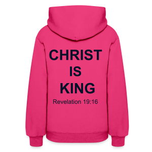 Women's Christ Is King Hoodie with BLACK GLITTER - Women's Hoodie