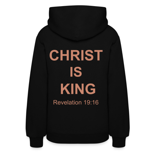 Women's Christ Is King Hoodie with PINK GLITTER  - Women's Hoodie