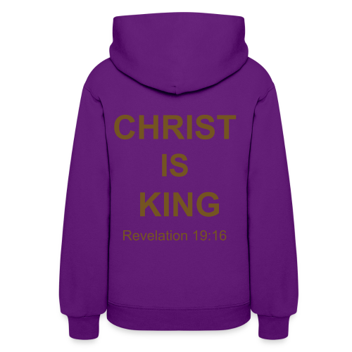Women's Christ Is King Hoodie with GOLD GLITTER - Women's Hoodie