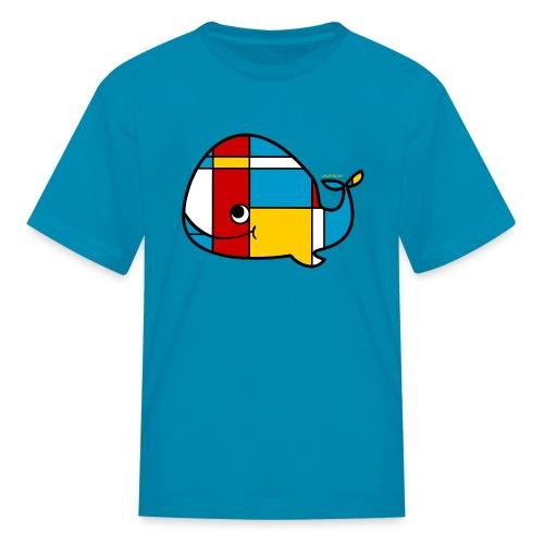 Mondrian Whale Kids T-Shirt - Kids' T-Shirt