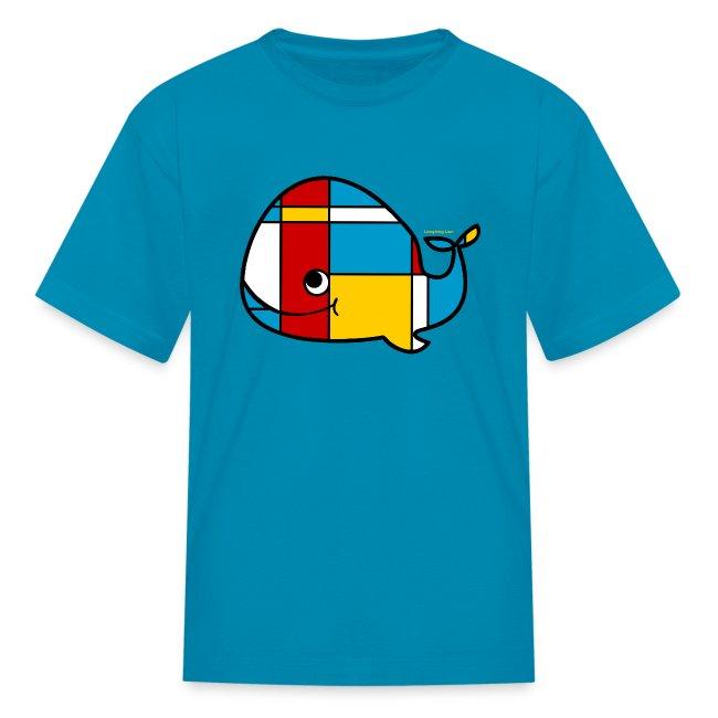 Mondrian Whale Kids T-Shirt