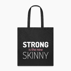 Strong New Skinny Gym Quote Bags & backpacks
