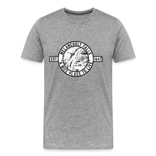 Melahcnoly Falls Town Logo - Men's - Men's Premium T-Shirt