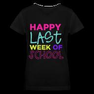 Women's T-Shirts ~ Women's V-Neck T-Shirt ~ Happy Last Week of School | Bright | Women's V-Neck