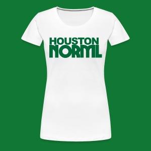 Women's Cotton Tee Houston NORML Green Logo - Women's Premium T-Shirt