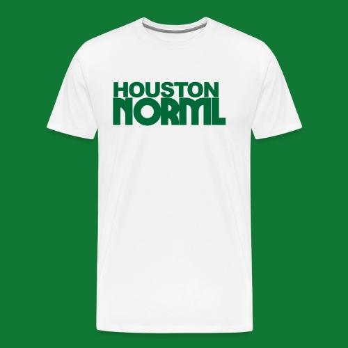 Men's Cotton Tee Houston NORML Green Logo - Men's Premium T-Shirt