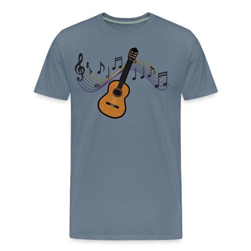 White Guitar mens t-shirt  - Men's Premium T-Shirt
