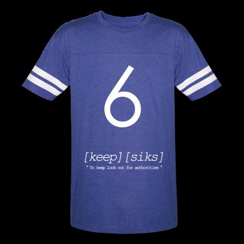 Keep 6® Royal Blue Baseball Tee - Vintage Sport T-Shirt