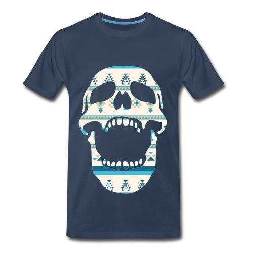 Aztec Skull 2 - Men's Premium T-Shirt