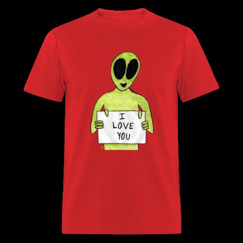 I love you Alien - T-shirt pour hommes