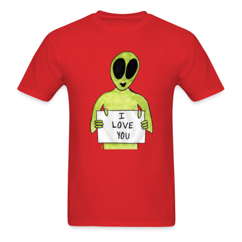 I love you Alien - Men's T-Shirt