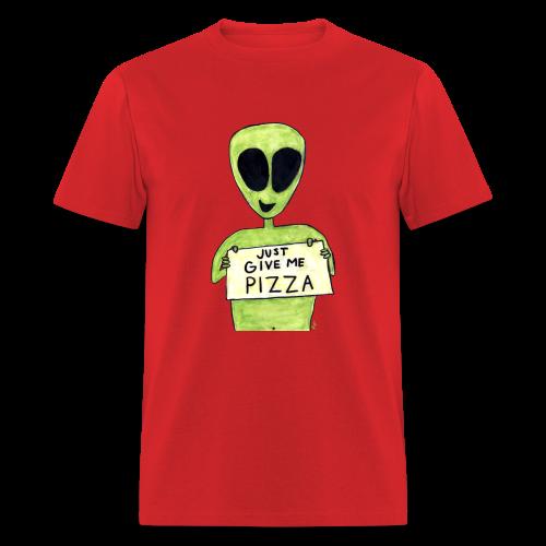 Just give me pizza Alien - T-shirt pour hommes