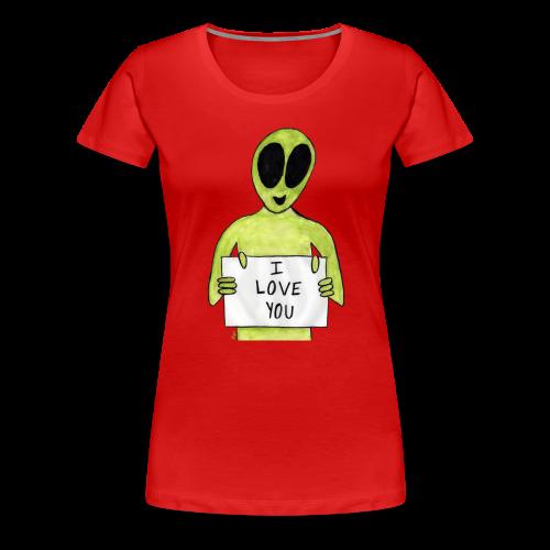 I love you Alien - T-shirt premium pour femmes
