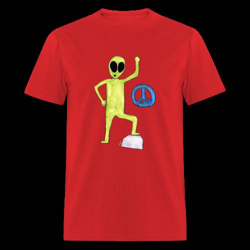Peace and love Alien - T-shirt pour hommes