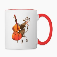 Cool Okapi Playing Double Bass Mugs & Drinkware
