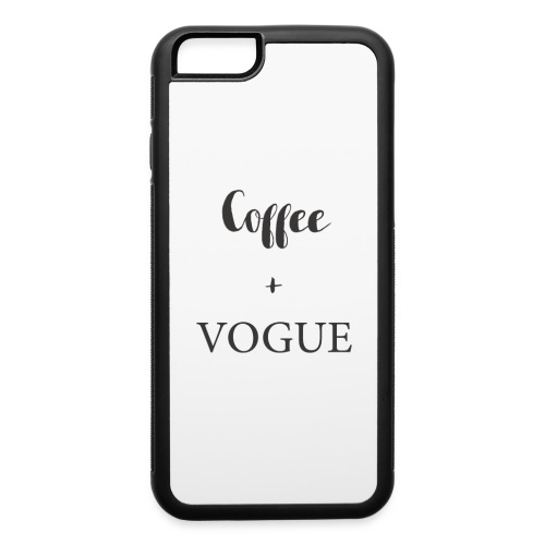 Coffee & Vogue Tee - iPhone 6/6s Rubber Case