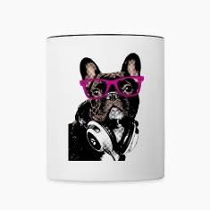Hipster Frenchie Mugs & Drinkware