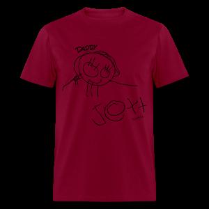 Daddy By: Jett! Mens T-Shirt (BLACK) - Men's T-Shirt