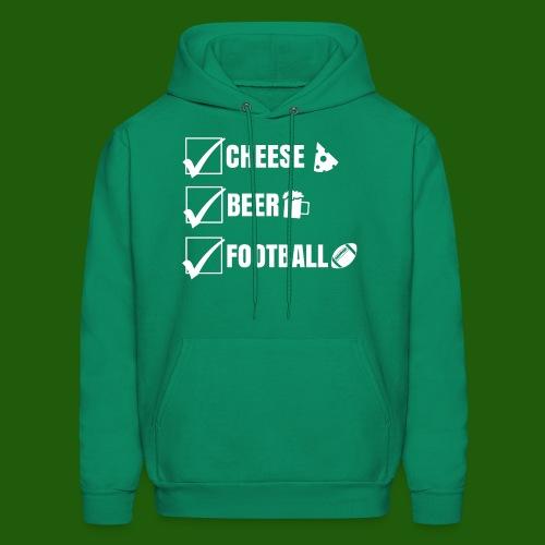 Cheese, Beer, Football - Men's Hoodie