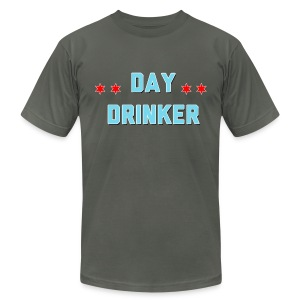 Day Drinker Men's T-Shirt Dark Grey - Men's T-Shirt by American Apparel