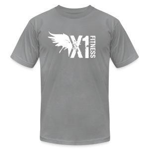 Men's X1 Fitness Tshirt, Charcoal - Men's Fine Jersey T-Shirt