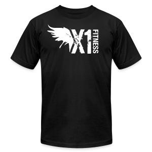 Men's X1 Fitness Tshirt, Black - Men's Fine Jersey T-Shirt