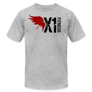 Men's X1 Fitness Tshirt, Light Gray - Men's Fine Jersey T-Shirt
